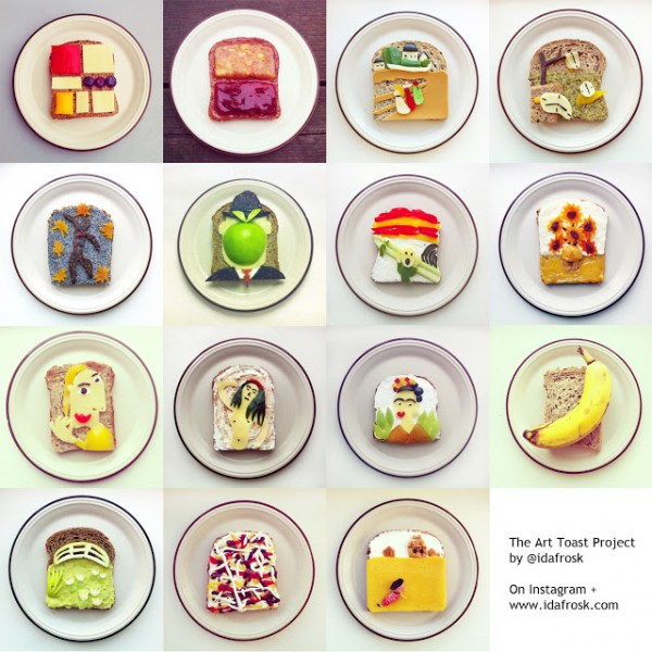 Playing with Food: The Art Toast Project from Ida Frosk