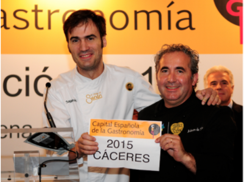 Cáceres starts the year with the title of Spanish Capital of Gastronomy