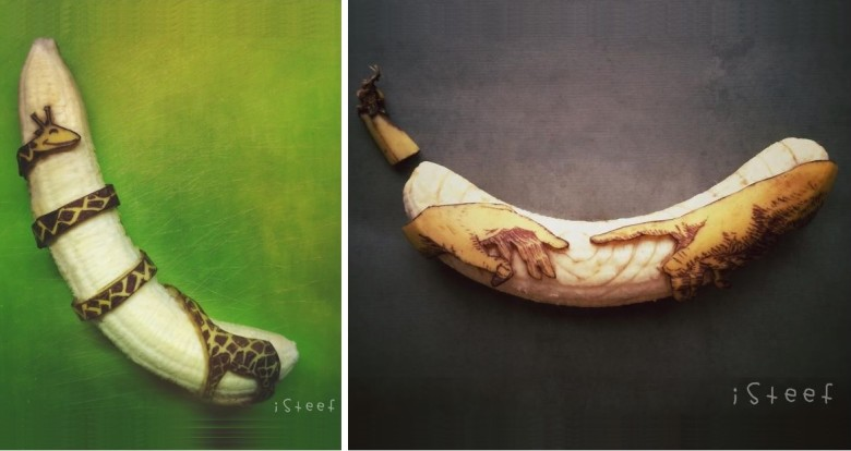 Artist Turns Bananas Into Amazing Banana Sculptures