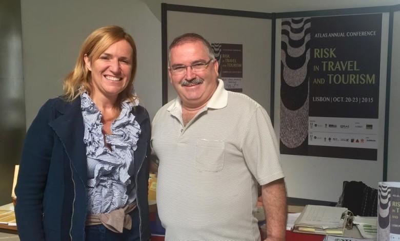 Roberta Garibaldi and Carlos Fernandes, members of IGCAT's board, participates in the ATLAS Annual Conference