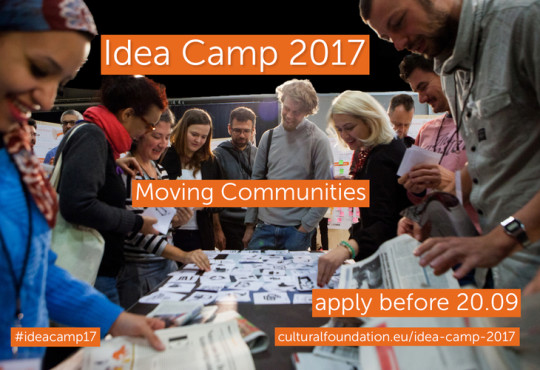 Call for European Cultural Foundation's Idea Camp 2017