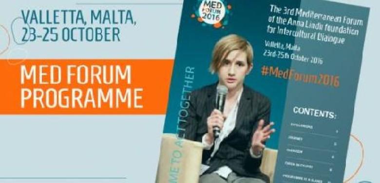 Anna Lindh Foundation unveils MED FORUM programme