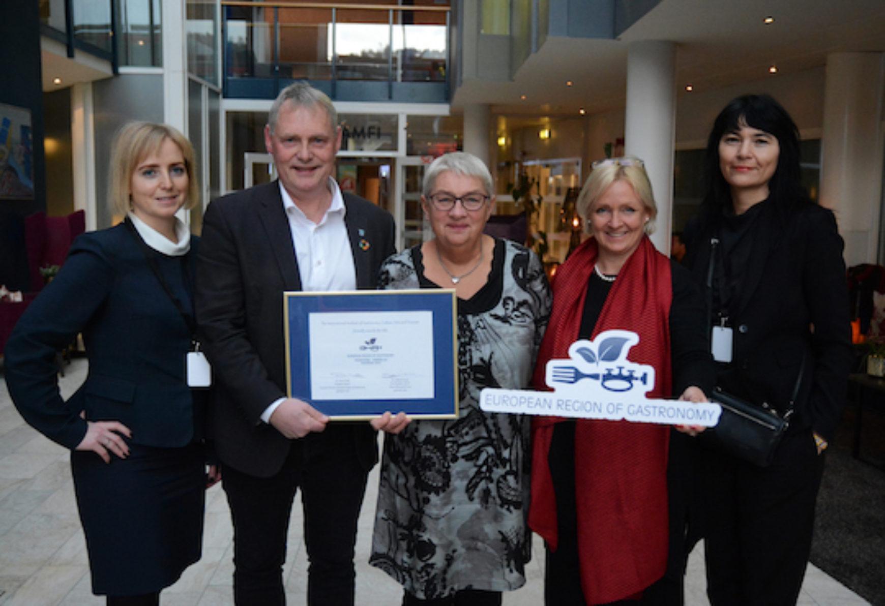 Trondheim-Trøndelag awarded European Region of Gastronomy 2022
