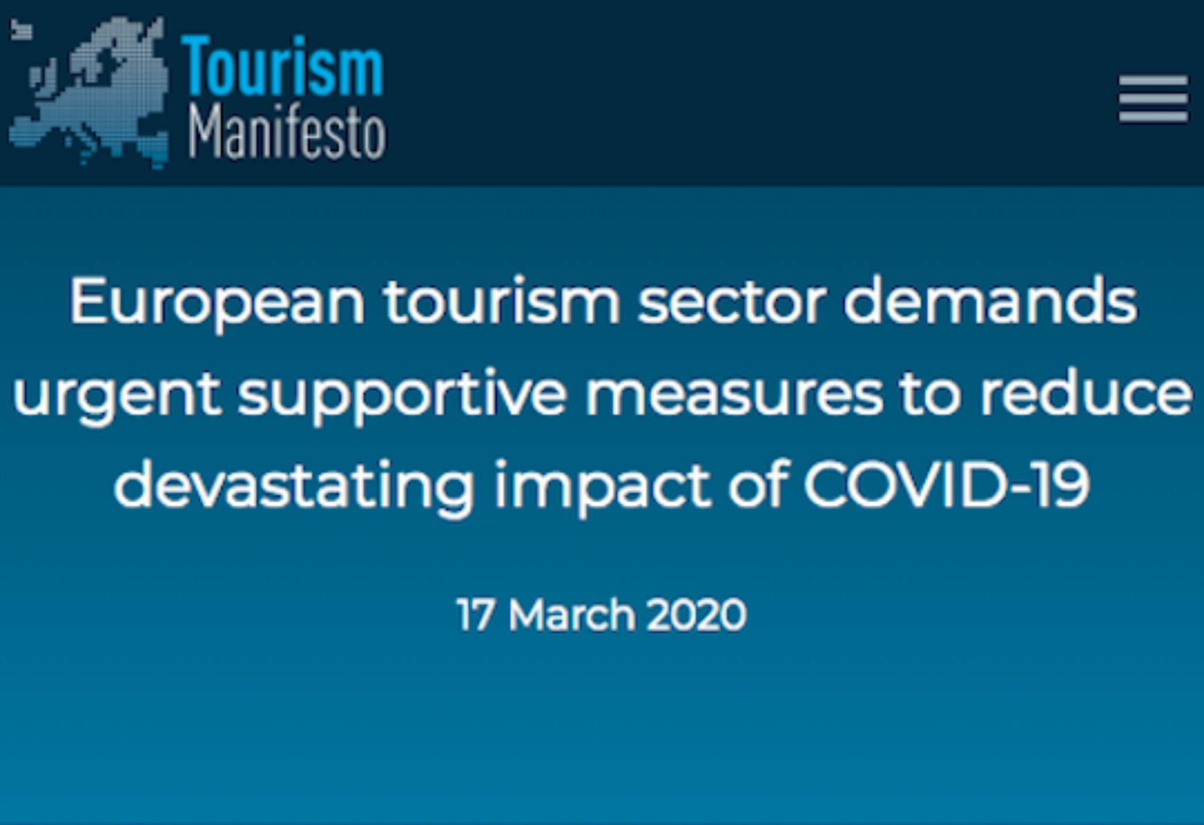 Tourism Manifesto calls for support to the European tourism sector