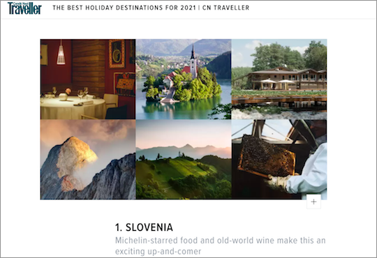 Traveller magazine highlights Slovenia as best destination for 2021_Website