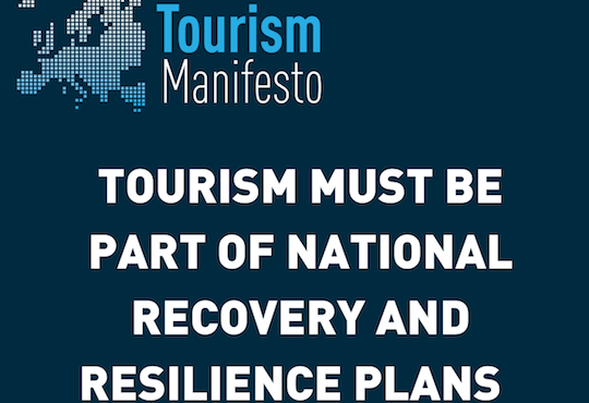 Tourism must be part of national recovery and resilience plans