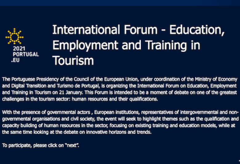 International Forum – Education, Employment and Training in Tourism